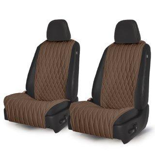 Накидки на сидения Комплект передних накидок (Темно-коричневый) Ромб 2